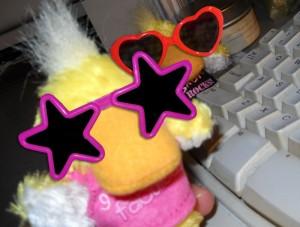 Natasha at the keyboard