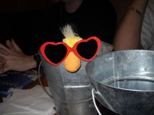 George in the peanut bucket