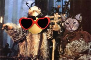 George and Morriscat Ewoks