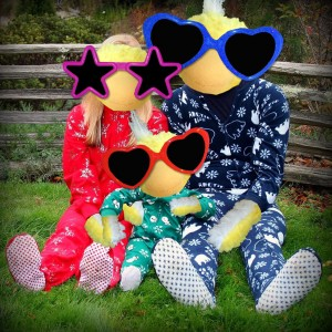 Baby George and Mom Edna and Dad Bruce in Jammies