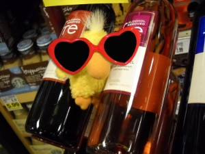 George the Duck and no alcohol wine