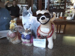 George the Duck, Hookalopes, Blind Maximus and Tiny Pearl Cat at Pawlove