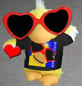 George the Duck Valentine